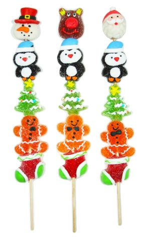 Christmas Jelly Kabobs: Delicious gummy candies for kids! A perfect gift for this Holiday Season!