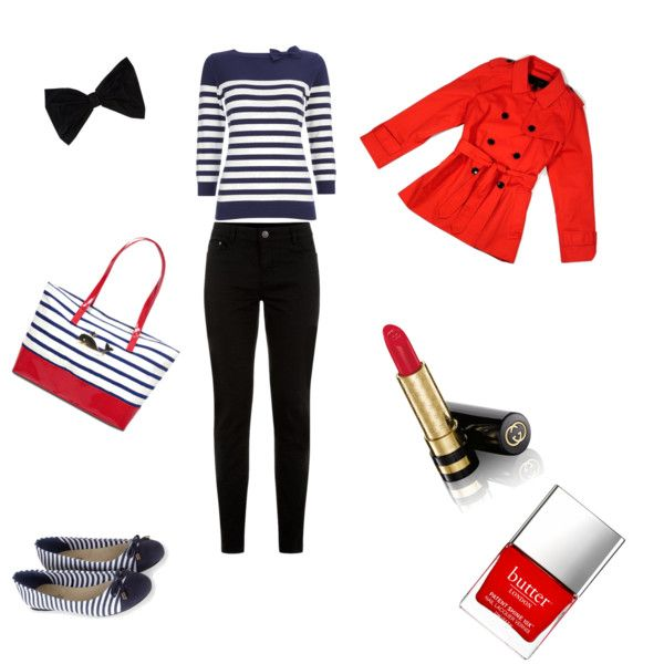 Nautical outfit by alison-jane-gairns on Polyvore featuring polyvore, fashion, style, Wallis, Coach, Accessorize, PINK BOW, Gucci and Butter London