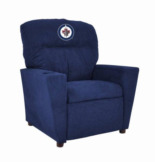 Winnipeg Jets NHL Kids/Childrens Recliner Chair Furniture