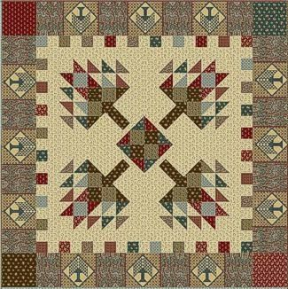 pine tree quilt images   Pine Tree Lodge Quilt Kit