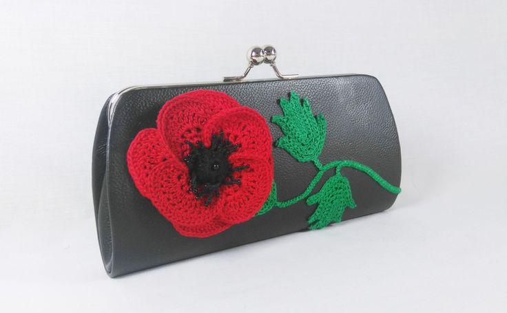 Poppy flower clutch bag by DSfashion on Etsy