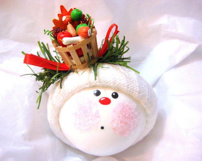 JARDÍN Navidad adornos vegetales mano de cesta Bushel madera pintado a mano personalizado con temas por Townsend regalos personalizados - BR