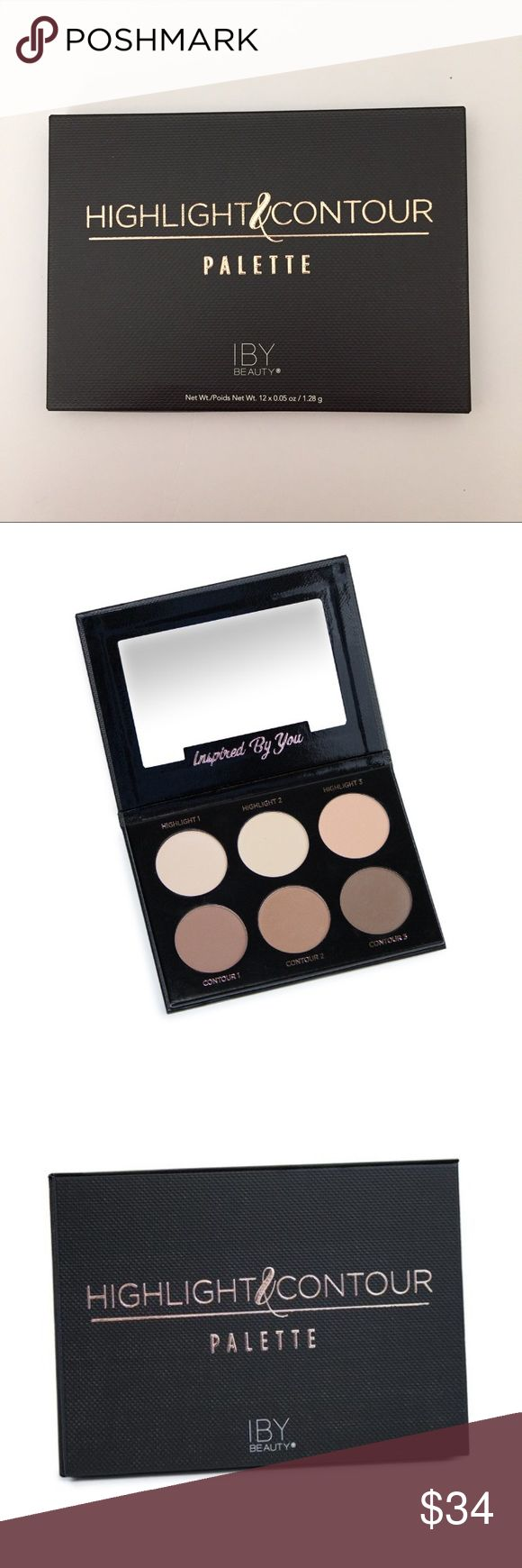 Highlight & Contour Palette by IBY Beauty Sculpt, define, and illuminate your features with the Highlight and Contour Palette. Chic and portable, this pro-approved kit comes in 6 versatile shades and includes an easy-to-follow makeup guide to achieve your most natural contoured look.  Not opened, new in box. IBY Beauty Makeup