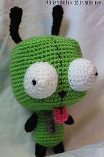 Gir from Invader Zim - This pattern is available as a free Ravelry download