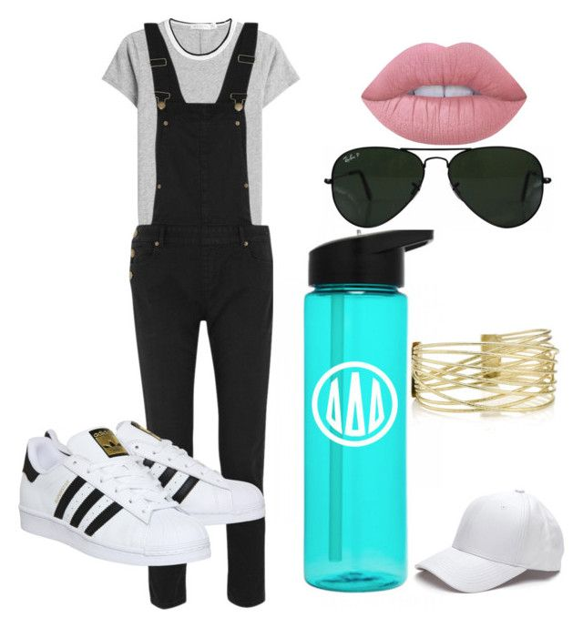 """""""state fair"""" by rabiamiah on Polyvore featuring rag & bone, Maje, adidas, Ray-Ban, Lime Crime, statefair and summerdate"""