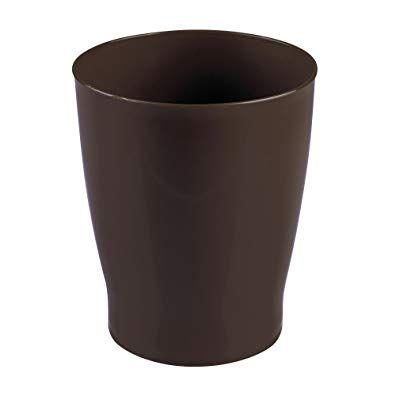 Mdesign Slim Round Plastic Small Trash Can Wastebasket Garbage
