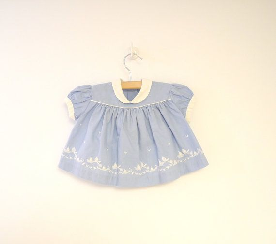Vintage Baby Clothes 1950's China Blue and White by BabyTweeds