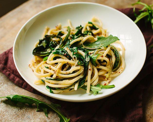Pici Pasta with Dandelion Greens
