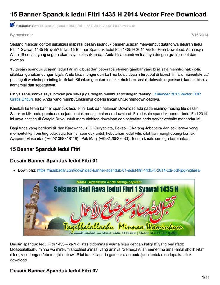 Masbadar com 15 banner spanduk iedul fitri 1435 h 2014 vector free download