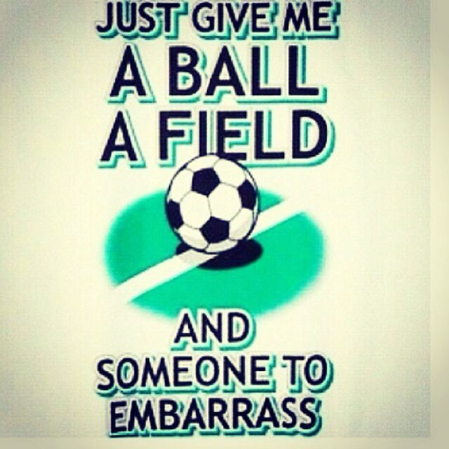 "When people say that baseball, football, tennis, golf, etc. are one of the hardest sports ever, I stare and say, ""try soccer."""