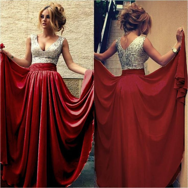 2015 Sexy Sequined V Neck Evening Gowns Sweep Train Prom Dresses With Red Black Party Gowns Plus Size Evening Dresses Uk Sexy Classy Dresses From Lilliantan, $40.21| Dhgate.Com