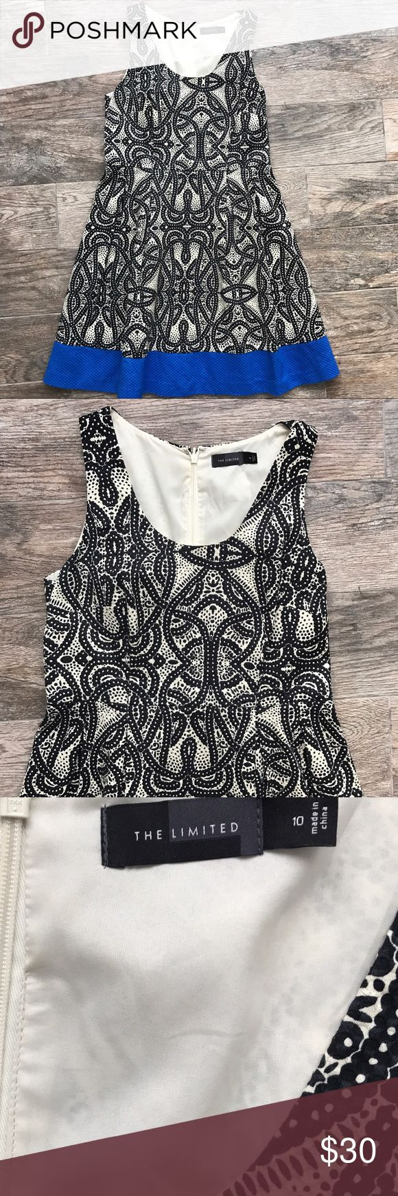 """The Limited Patterned A Line Dress The Limited A Line Dress in great condition! 99% Cotton, 1% spandex. Measures 37"""" long. Armpit- armpit 17"""". Size 10. The Limited Dresses Midi"""
