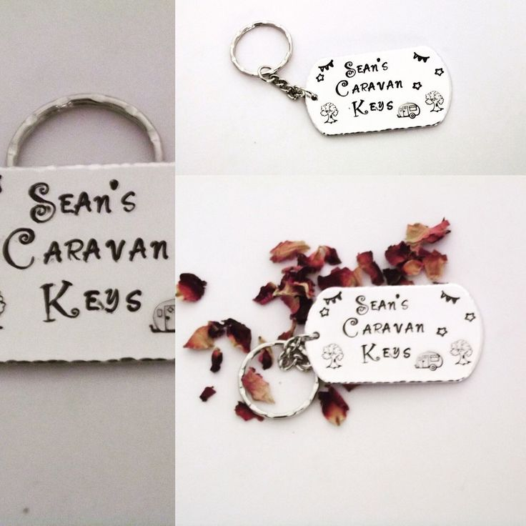 Have your chosen name or even Dad's, Daddy's, Grandad's Hand Stamped on this keyring to make an extra special gift! Ideal as a Christmas stocking filler!