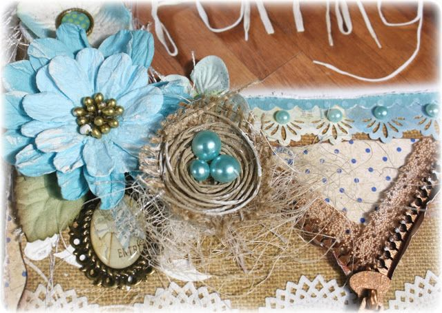 Easy #Tutorial on how to make a #Birds Nest embellishment by #Gabrielle Pollacco, #DIY
