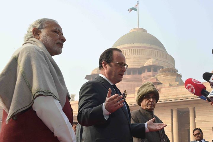 67th republic day picture and our guest was french president Mr. Frencois hollande.
