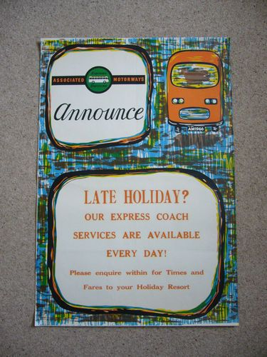 Late holiday coach poster