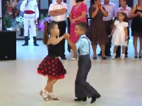 Bet you haven't seen a dance routine like this before! Watch as a 6-year-old duo takes over the floor and shows off some impressive moves.