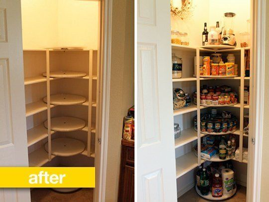 Pantry Before Amp After Rotating Shelves Or Pantry