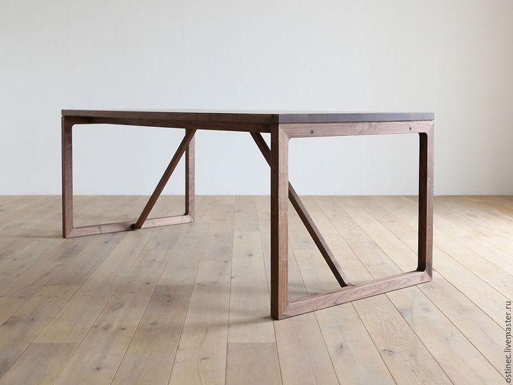 Купить обеденный прямоугольный стол из массива ясеня или дуба Виктория в интернет магазине на Ярмарке Мастеров
