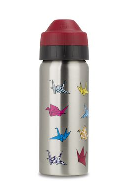 Origami Cranes 500ml insulated water bottle. NEW from ecococoon!