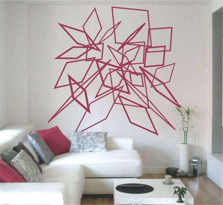 Vinilo decorativo composición abstracta cuadrados #vinilo #vinilodecorativo #vinilodecorativovarios #devinilos #devinilosvinilocomposicionabstractacuadrados
