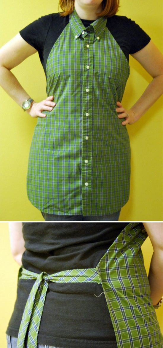 Fancy Apron From a Shirt