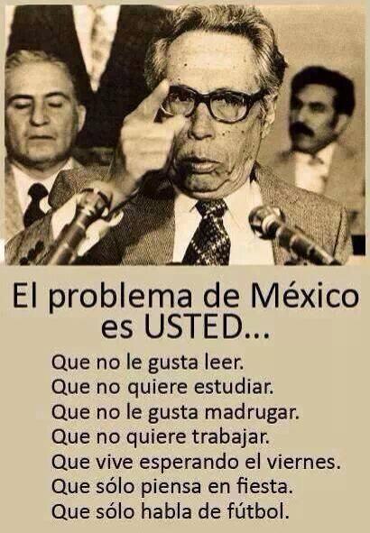 El problema no solamente de Mexico sino de TODA America Latina incluyendo el pueblo hispano dentro de los Estados Unidos! Que necesita pasar para que empecemos a tomar en cuenta lo que esta pasando? Coño despierta Latino!