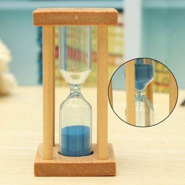 1/3/5 Min Wooden Sandglass Hourglass Kitchen Timer Clock Home Decor
