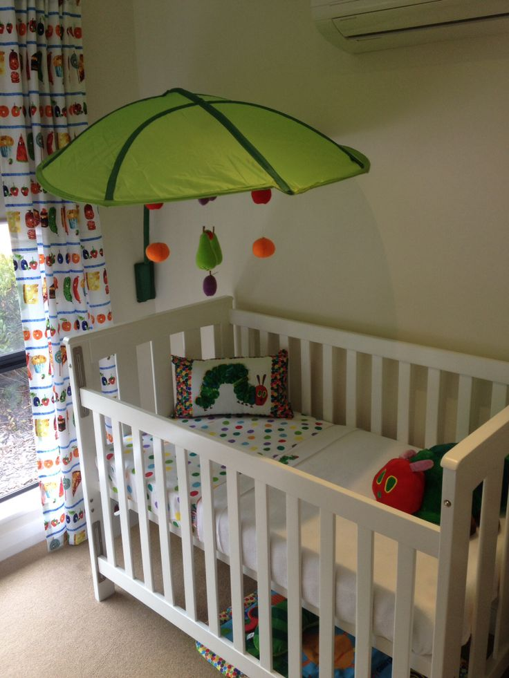 Hungry caterpillar cot.