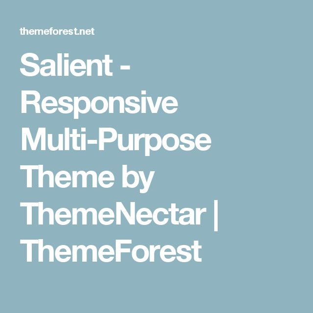 Salient - Responsive Multi-Purpose Theme by ThemeNectar | ThemeForest