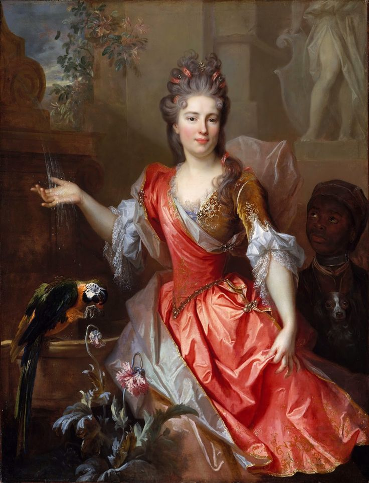 Nicolas de Largillierre - Portrait of a Woman, Perhaps Madame Claude Lambert de Thorigny [1696]  #17th #Classic #Nicolas de #Largillierre #Painting #Portrait