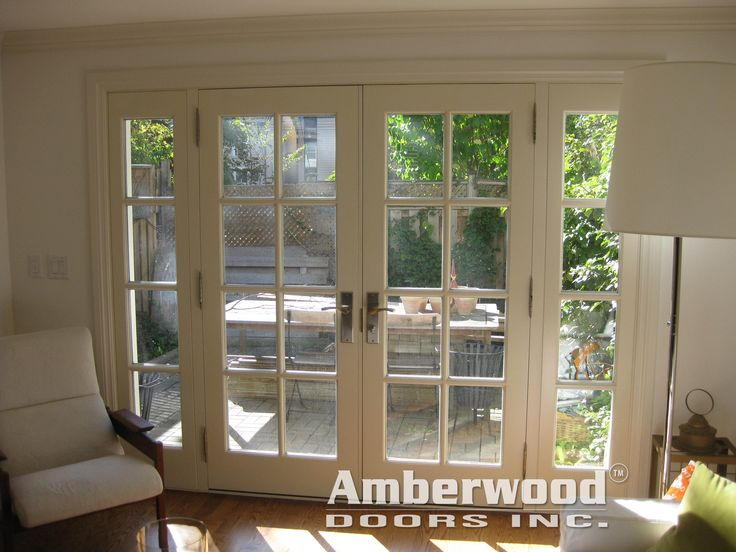 105 best amberwood double entry doors images on pinterest for Exterior french doors both sides open