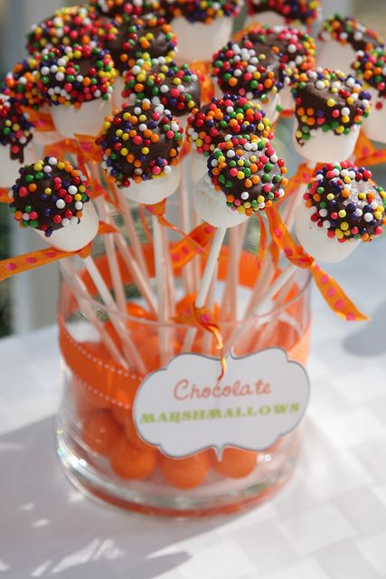 Choc Dipped Marshmallows for Carnival Party Food