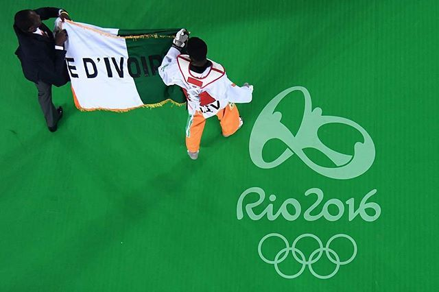 Cheick Sallah J. Cisse wins gold medal in men's -80kg taekwondo. This is Côte d'Ivoire's first ever Olympic gold medal. 👏👏👏 Congratulations! #Olympics #Rio2016 (C)Gettyimages