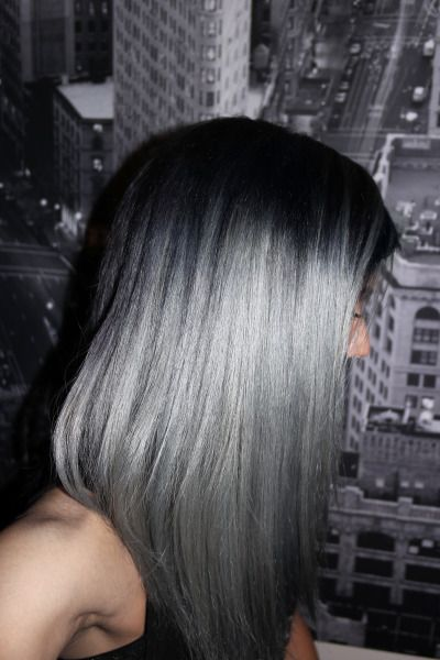 After seeing Dascha Polanco's gorgeous steel gray hair, I looked up how they mixed the color. The formula? Pravana Vivids Silver + Pravana Black 1N. Dark gray-steel gray-silver gradient.