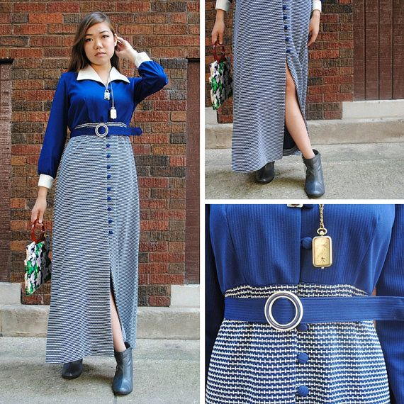 Hey, I found this really awesome Etsy listing at https://www.etsy.com/uk/listing/245439236/blue-striped-dress-sz16-blue-striped