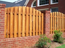 wood and brick fence
