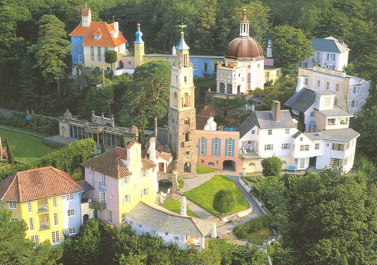 "Portmeirion, Wales - The Village from the 1960s TV series ""The Prisoner"" (""I am not a number!"")"