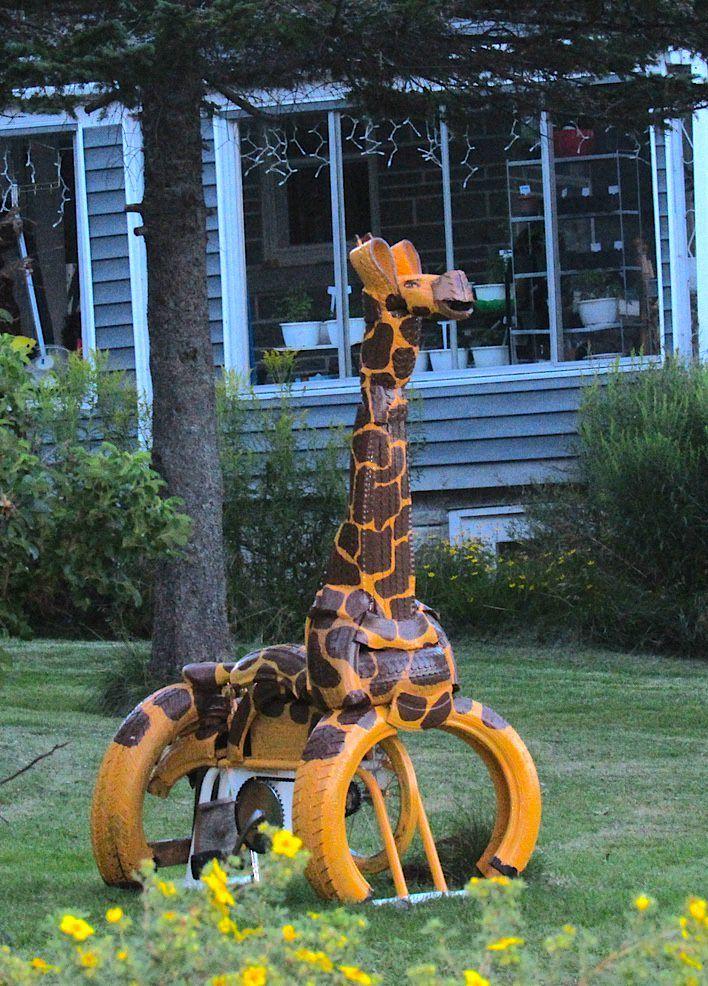 Girafe Stationnaire Giraffe Made Out Of