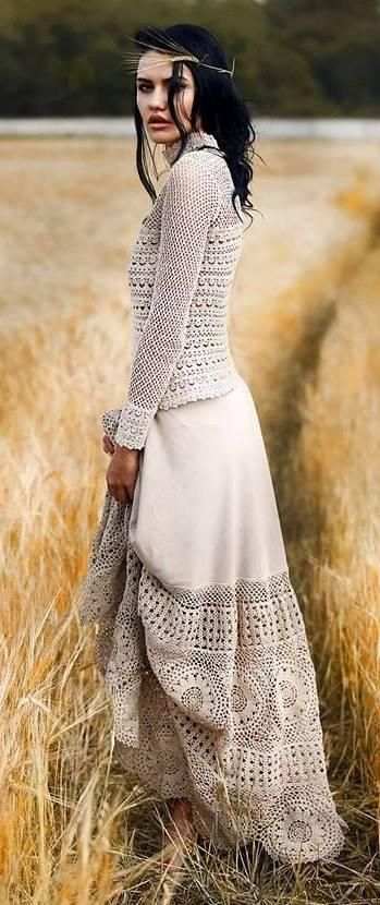 Just this pic.  Beautiful way to dress up a plain skirt.