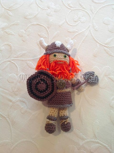 Viking amigurumi (no pattern, but directions) crochet5 ...