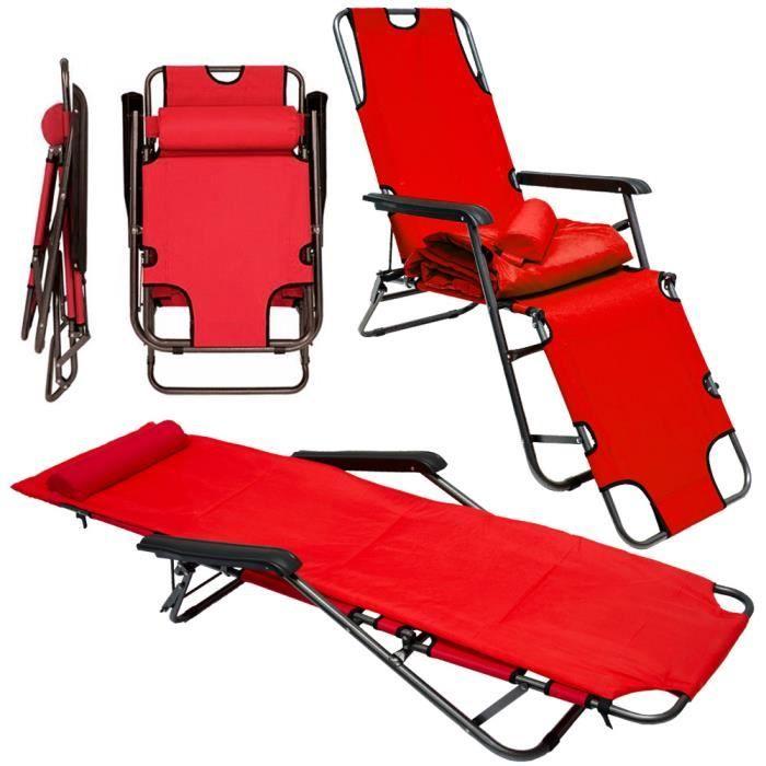 Chaise longue 178 cm Camping Chaise Longue Transat Transat de jardin chaise longue Chaise Plage Chaise Longue