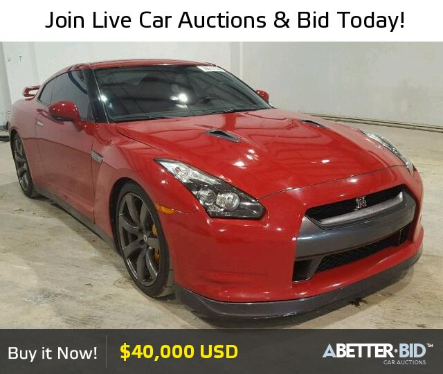 Salvage  2009 NISSAN GTR for Sale - JN1AR54F99M251811 - https://abetter.bid/en/28673106-2009-nissan-gt-r--premi