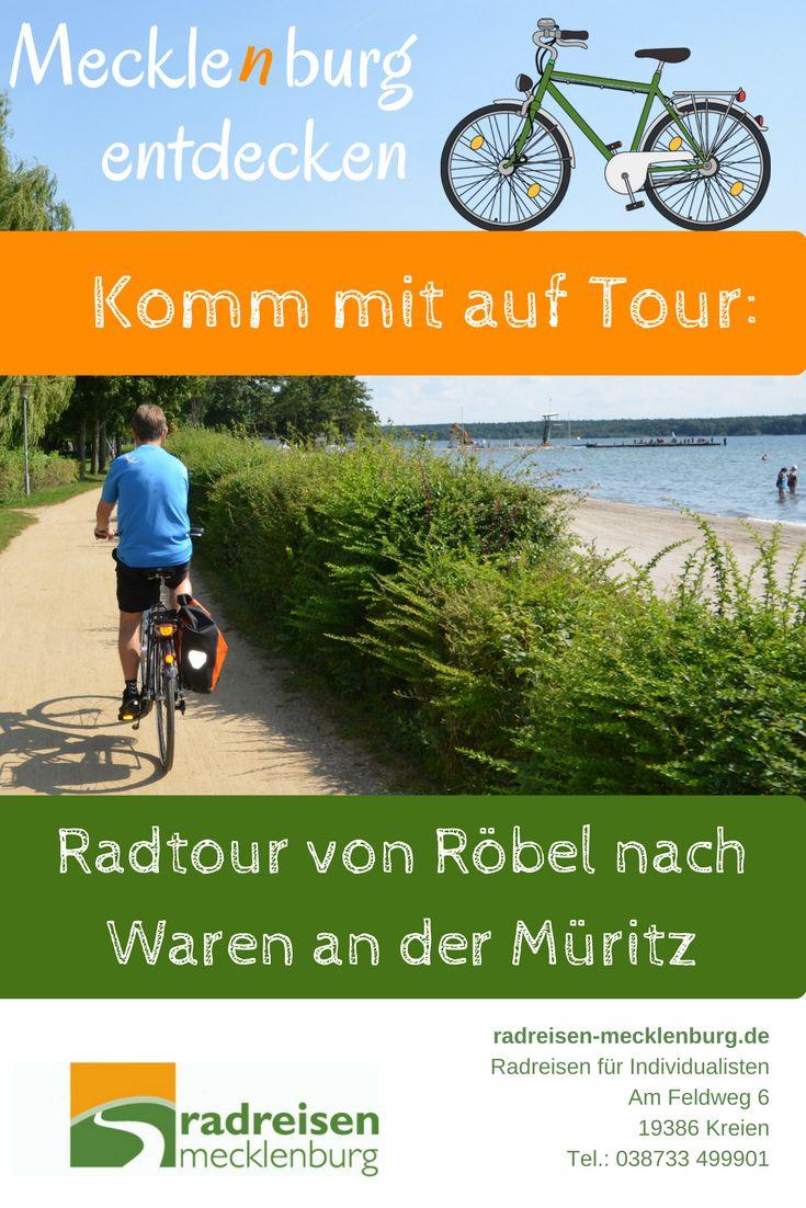 Eine kurze Radetappe auf dem Müritzrundweg führt von Röbel nach Waren, immer wieder mit Blickkontakt zu Mecklenburgs Kleinem Meer. Unser #Reisetipp für eine gemütlich Radtour in Mecklenburg, es sind nämlich nur 28 Km. Und wer wieder zum Ausgangspunkt zurück will, der nimmt das Schiff - und so ist der Radtourentag komplett.
