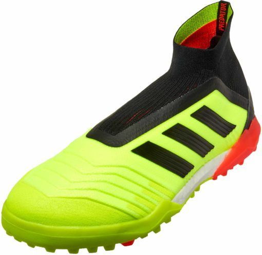 timeless design c3f7a c3c20 adidas Predator Tango 18 Turf Soccer Shoes - Solar Yellow Black Solar Red