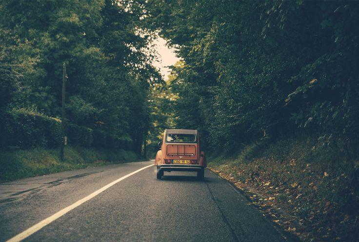 Road to Honfleur beach