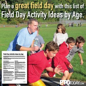Get our list of school field day activities by age. Great for PTO and PTA planning.