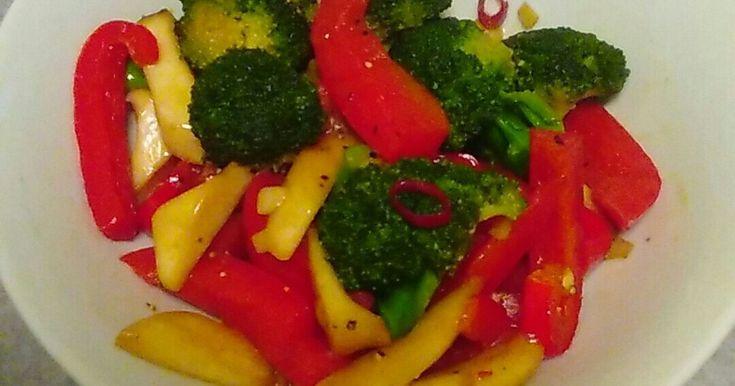パプリカとブロッコリーのペペロンチーノ by たっち@くん [クックパッド] 簡単おいしいみんなのレシピが263万品