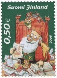 Joulupostimerkki 2005 1/2 - Kirjeitä Joulupukille