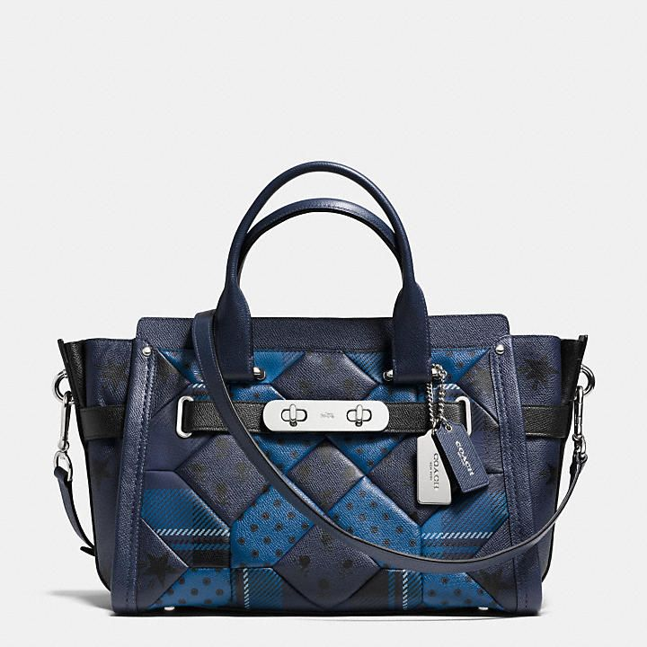 COACH - COACH SWAGGER CARRYALL IN PRINTED PATCHWORK LEATHER | International